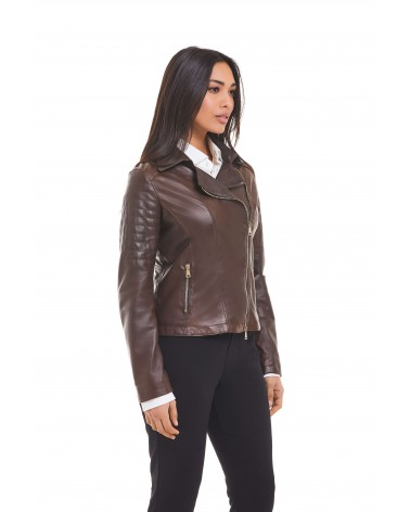 "AGATA - ""BOSTON"" LEATHER BIKER JACKET - 1"