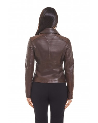 "AGATA - ""BOSTON"" LEATHER BIKER JACKET - 3"