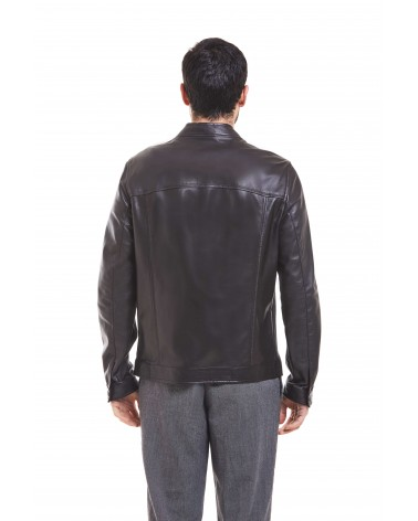 MAGLIE - PLONGE' LEATHER BIKER JACKET - 5