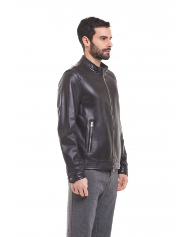 MAGLIE - PLONGE' LEATHER BIKER JACKET - 6