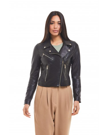 NADIA - LAMBSKIN NAPPA LEATHER JACKET - 4