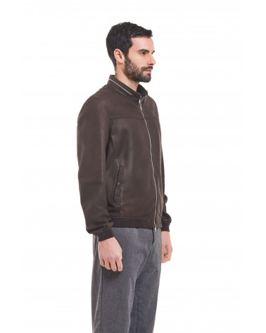 NARDO' - ANTIQUED NABUCK LEATHER COAT - 1