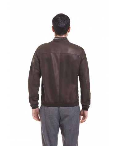 NARDO' - ANTIQUED NABUCK LEATHER COAT - 3