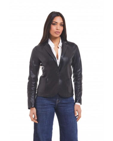 SALICE - PLONGE' LEATHER JACKET - 2